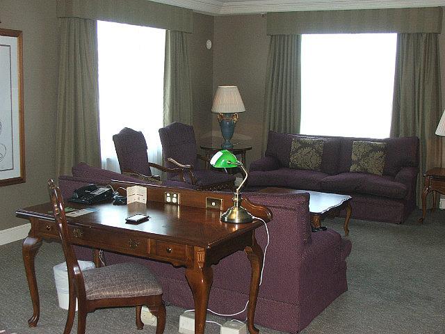 Lounge area of suite