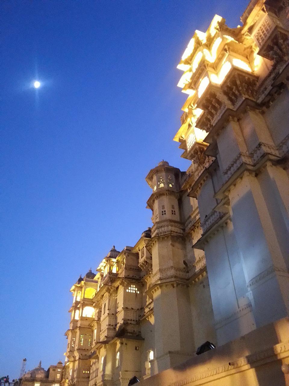 City Palace at night