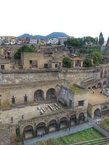Buried town of Herculaneum and that volcano