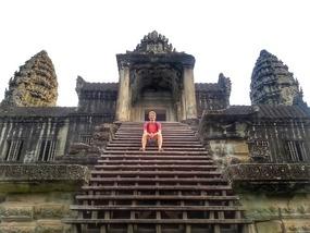 Angkor Wat's steps