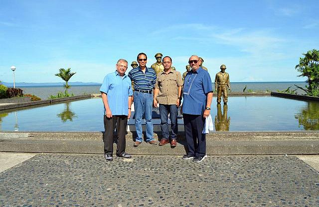 4 Of Us in Front of MacArthur Landing Memorial