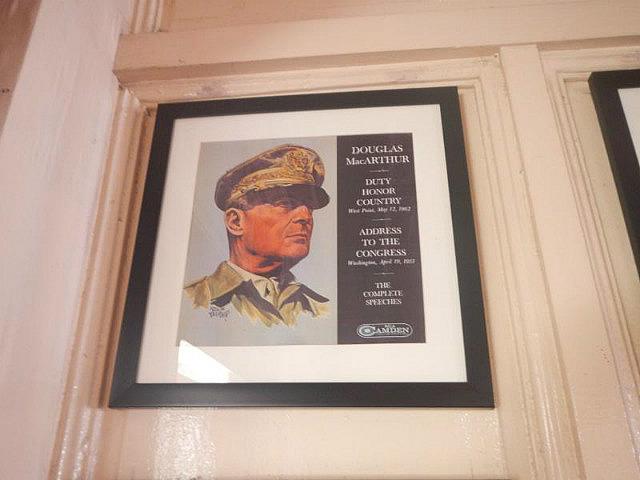MacArthur memorabilia at Alejandro Hotel