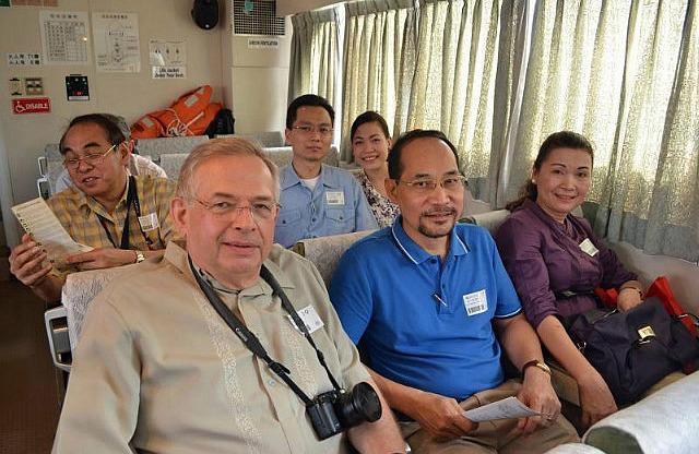 On the cruise boat to Corregidor