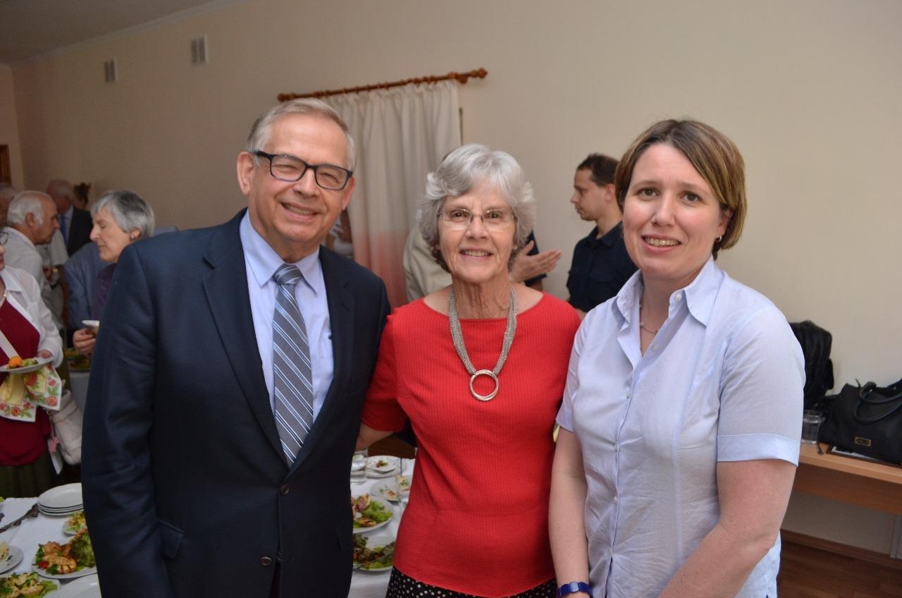 With Judith Gough, Ambassador Great Britain