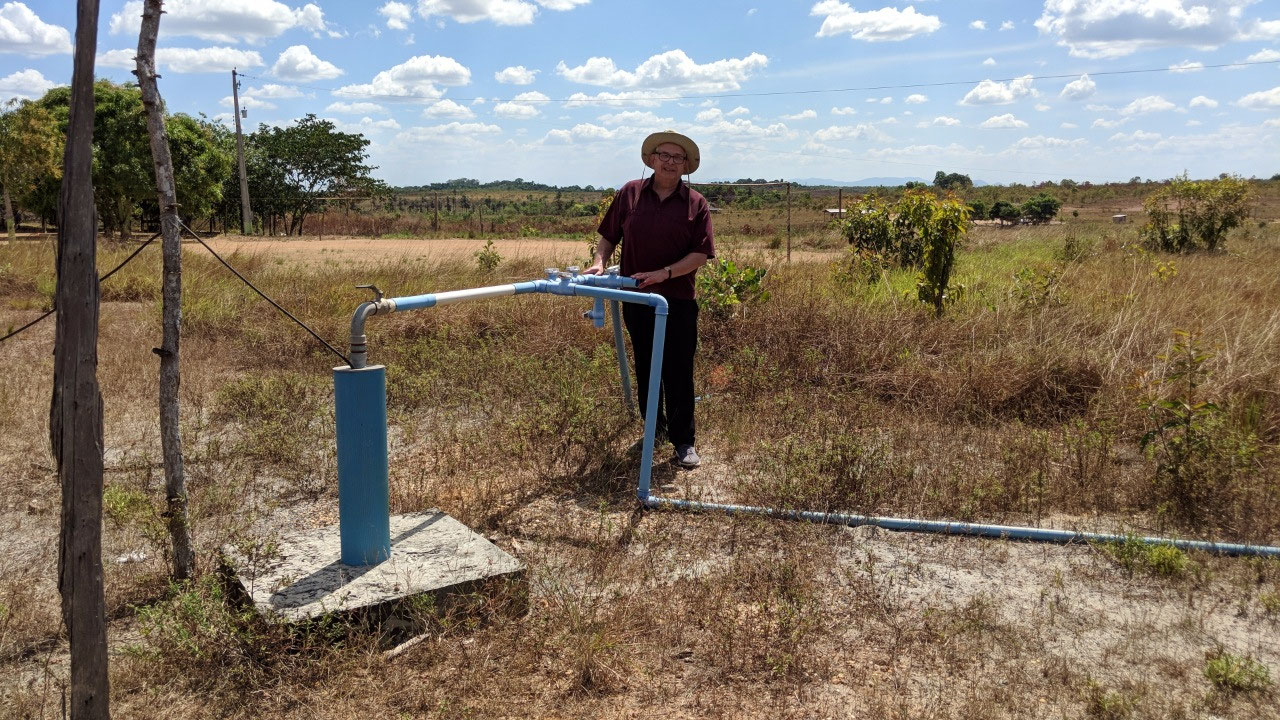 Me at the borehole