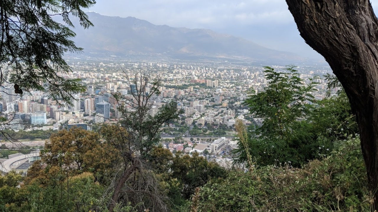 View of Santiago from St. Cristobal Hill