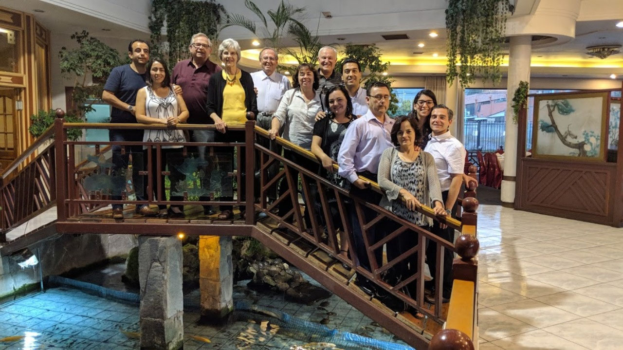 Conference attendees in Santiago