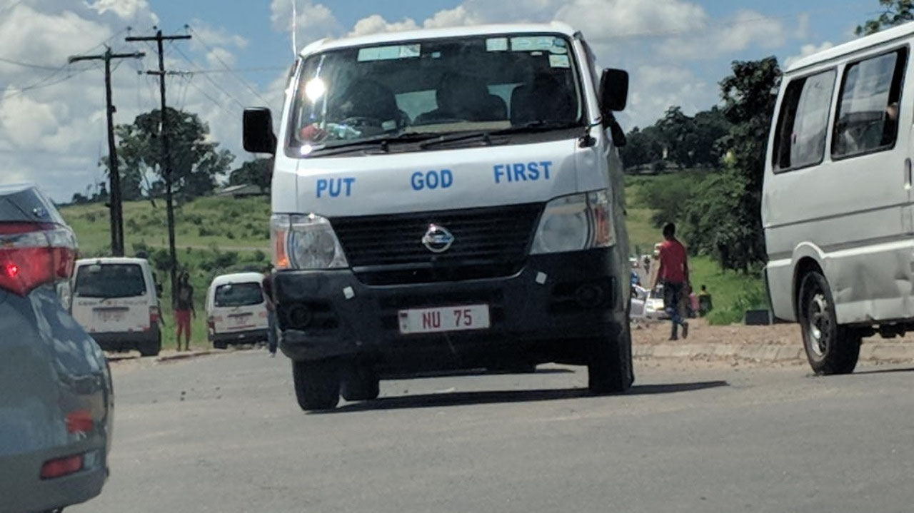 Typical religious platitudes on vehicles