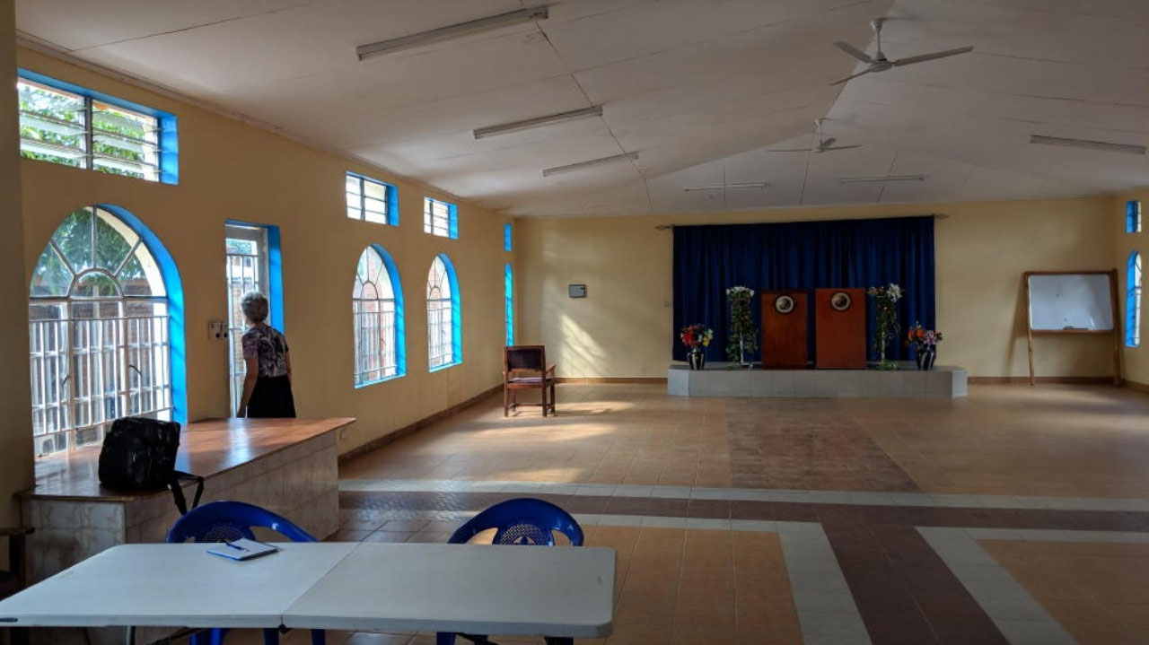 Our beautiful church hall