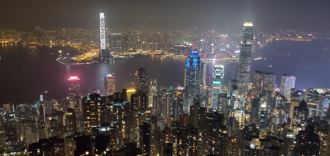 Night Lights of Hong Kong - Victoria Peak