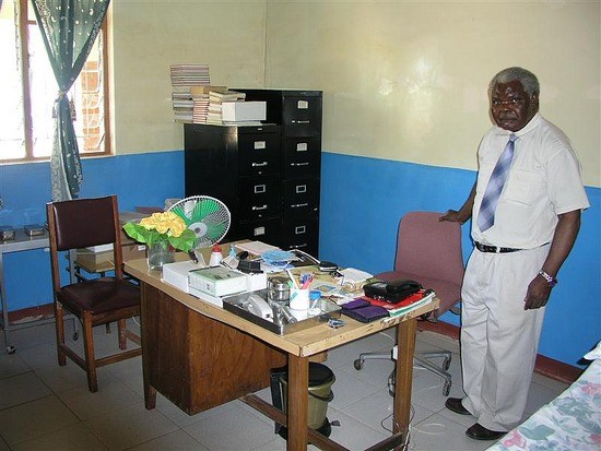 c Dr. Chilopora in his office