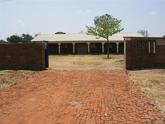 d Gated entrance to the Chizeni Clinic