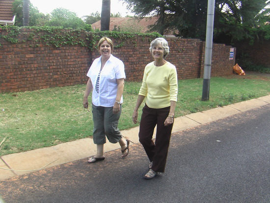 On a walk in Pretoria with Bev and Joline