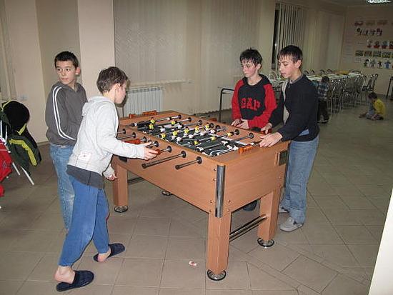 Boys playing fussball