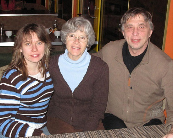 Katrin, Bev and Andrus