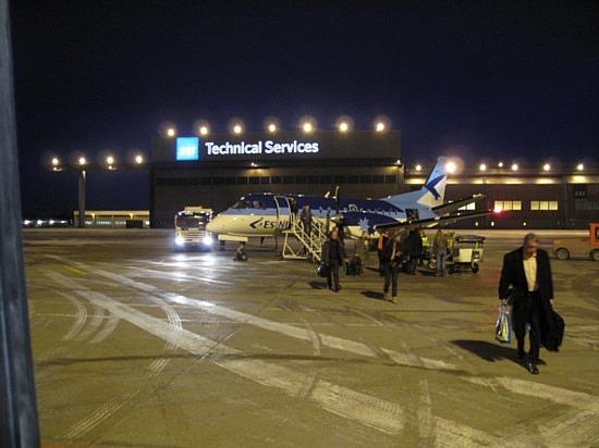 Arrival in Stockholm