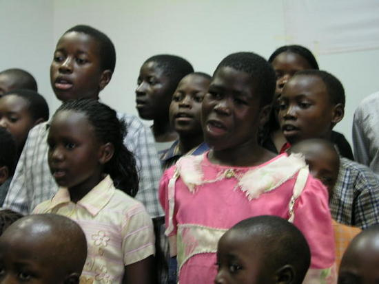 Children singing special music