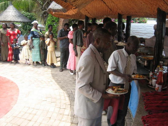 Lunch for everyone at the Nkpola Lodge