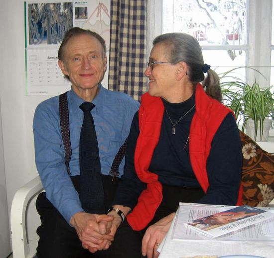 Stanley and Birgitta Olson in their cozy home