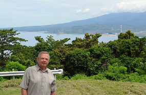 On Corregidor with Bataan in background