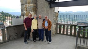 The four of us on top of Bartholomeo Tower