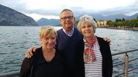 Antonella, Vic and Bev atp Lake Iseo