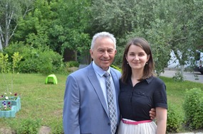 Dr. P and granddaugher Irina