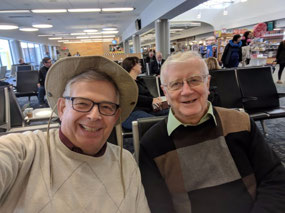 Jorge and me at Cincinnati Airport