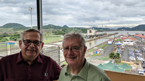 Jorge and me at Miraflores Locks