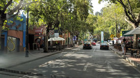 City street in Santiago