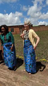 Bev in Malawi attire