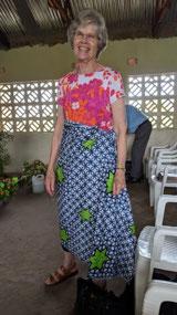Bev's African skirt
