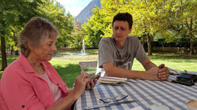 Barbara Botha and son Vivien