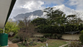 Mountains behind Botha's home