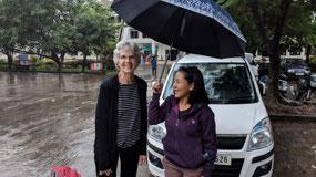 Bev and Dorothy in Aizawl, Mizoram