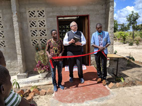 Ribbon cutting at Manyinga hall opening