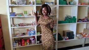 Chimwemwe Kalima runs the grocery