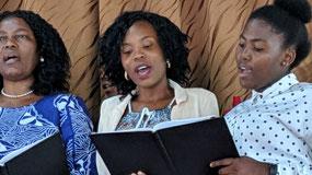 Women sing
