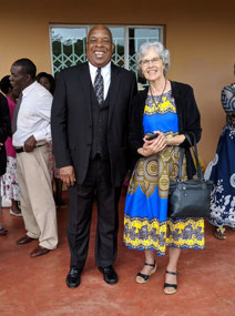Gracious Mpilangwe and Beverly Kubik