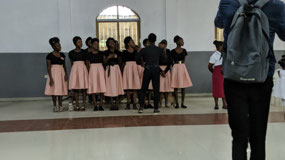 Youth choir sings welcoming songs