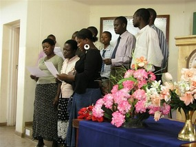 a Choir sings for Church in Lilongwe