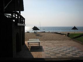 b Beach scene