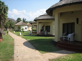 a At the Nkpola Lodge