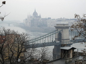 The Danube and Chain Bridge