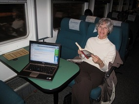 Comfy ride on train from Tartu to Tallinn