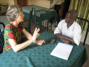 Bev and Eliphazi Salawilla discuss Malawi grants