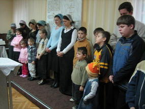 Children who came up for the blessing
