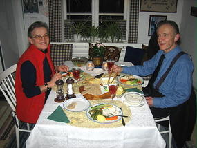 Stanley and Birgitta at Dinner Monday night