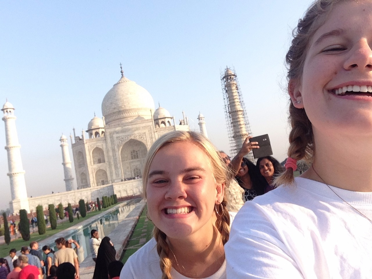 Kipppy & Maddie take a selfie at the Taj!