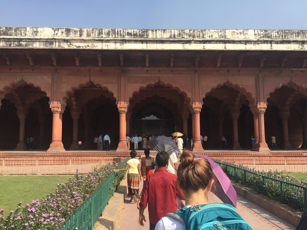 Visiting the Red Fort.